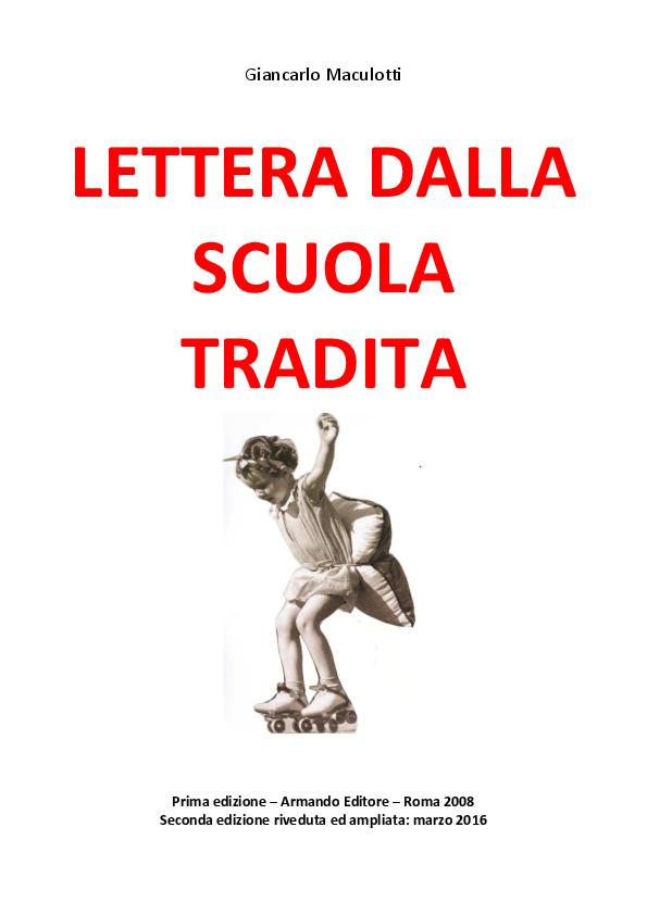 4319935f16 PDF) LETTERA DALLA SCUOLA TRADITA | Giancarlo Maculotti - Academia.edu