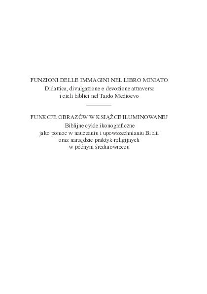 Pdf Funzione Delle Immagini Nel Libro Miniato Didattica