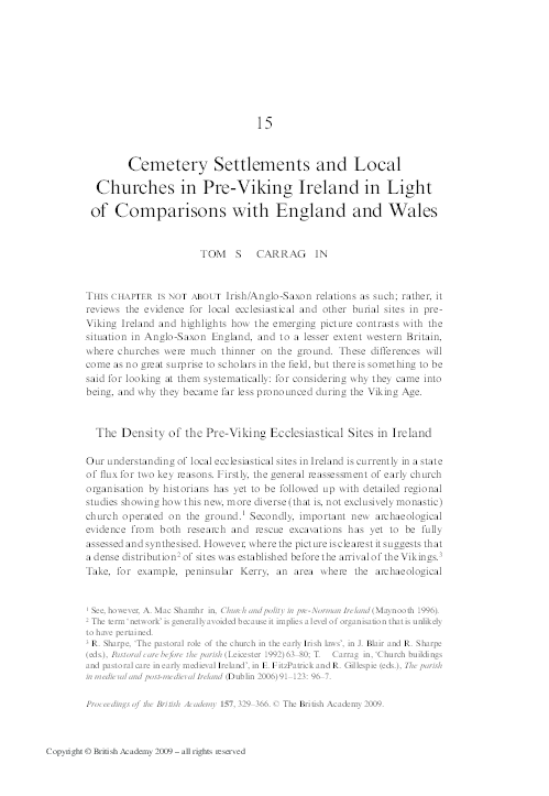 Cemetery Settlements And Local Churches In J Graham Campbell And M