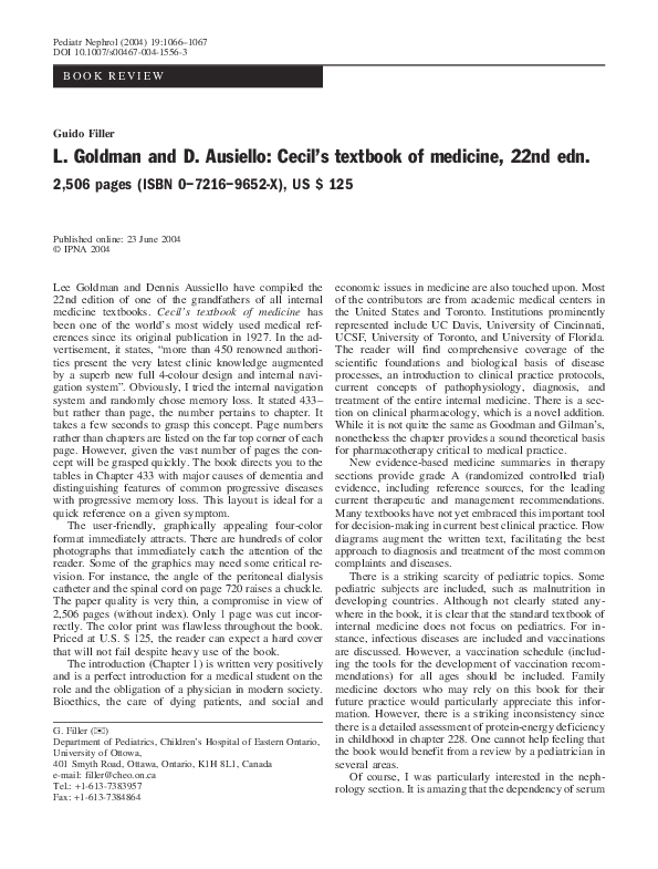 Goldmans Cecil Medicine Pdf