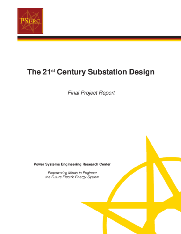PDF) The 21 st Century Substation Design Final Project Report