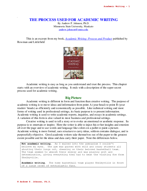 types of academic writing pdf