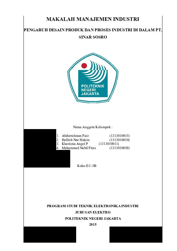Doc Makalah Desain Produk Faiz Abdurrahman Academia Edu
