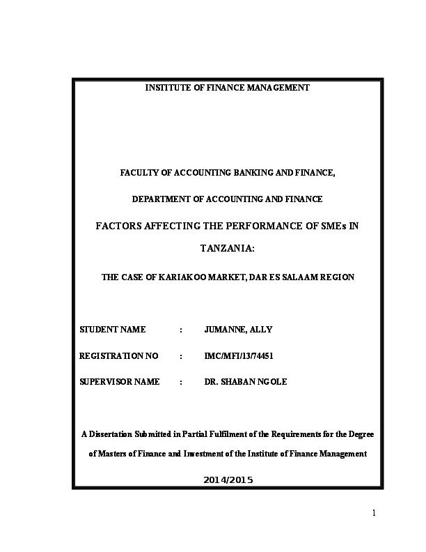 Master thesis sme
