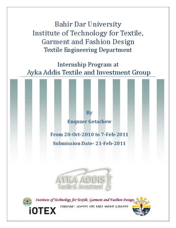PDF) Ayka Addis Textile and Investment Group | Enquzer Getachew