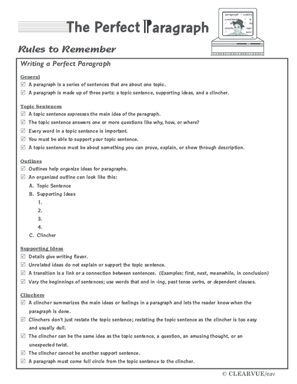 PDF) Rules to Remember Writing a Perfect Paragraph | Tess