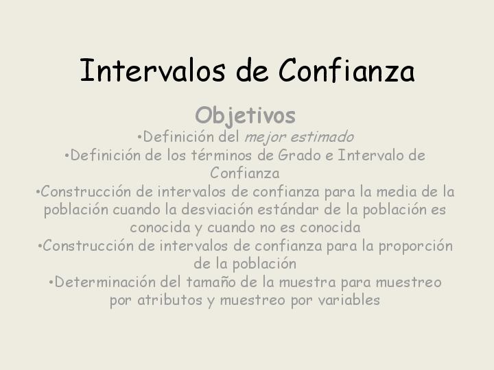 Conceptos de Estimacion, Estiamcion Puntual y Por Intervalos