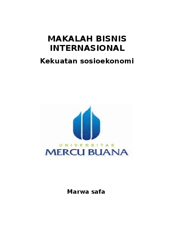 Doc Makalah Bisnis Internasional Marwasafa Safa Mardiya Academia Edu