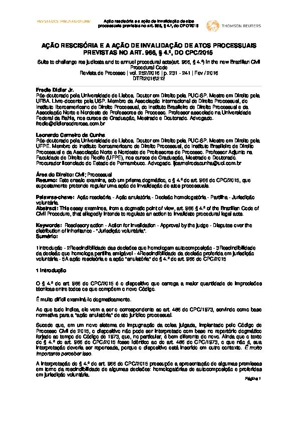 Curso De Direito Processual Civil Fredie Didier 2015 Pdf