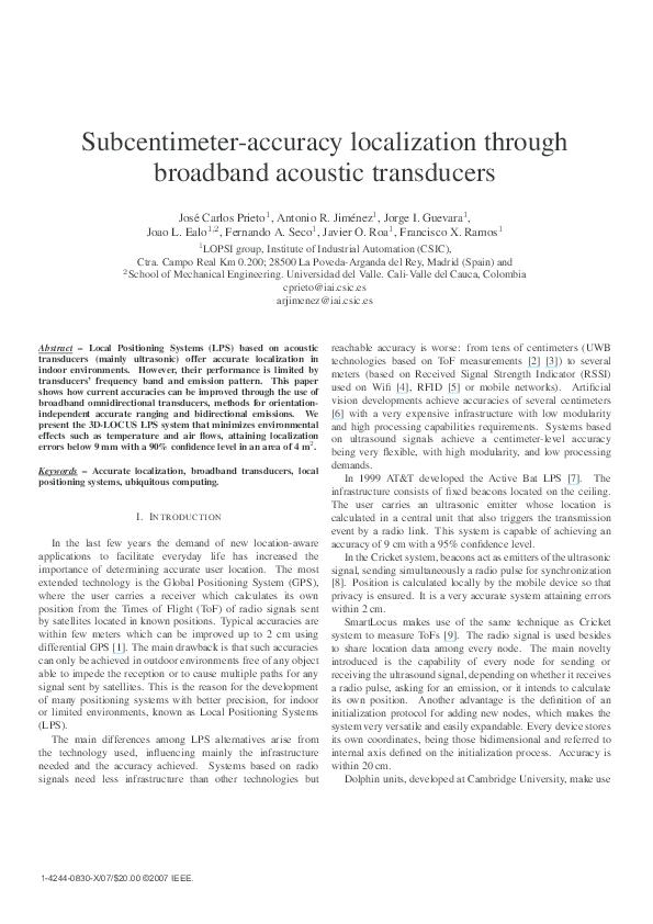 PDF) Subcentimeter-accuracy localization through broadband