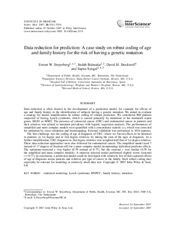 PDF) Data reduction for prediction: a case study on robust
