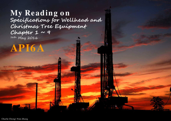 PDF) My Reading on Specifications for Wellhead and Christmas Tree