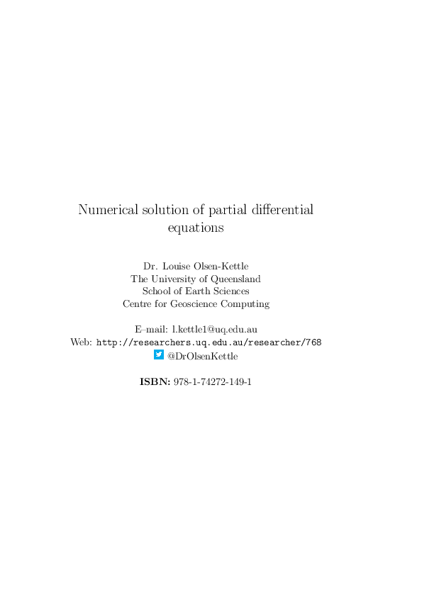 PDF) Numerical solution of partial differential equations | Nyuki