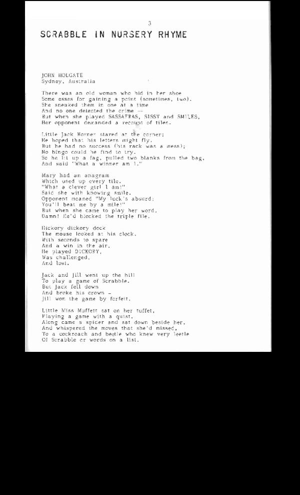 PDF) Scrabble in Nursery Rhyme   John Holgate - Academia edu