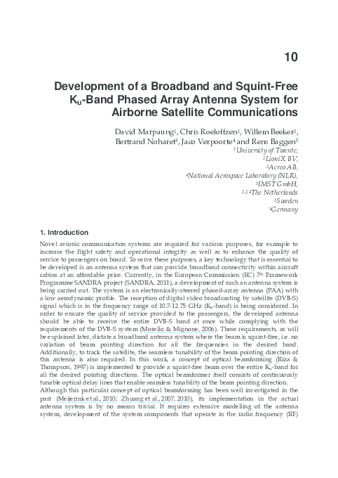 PDF) Development of a Broadband and Squint-Free Ku-Band