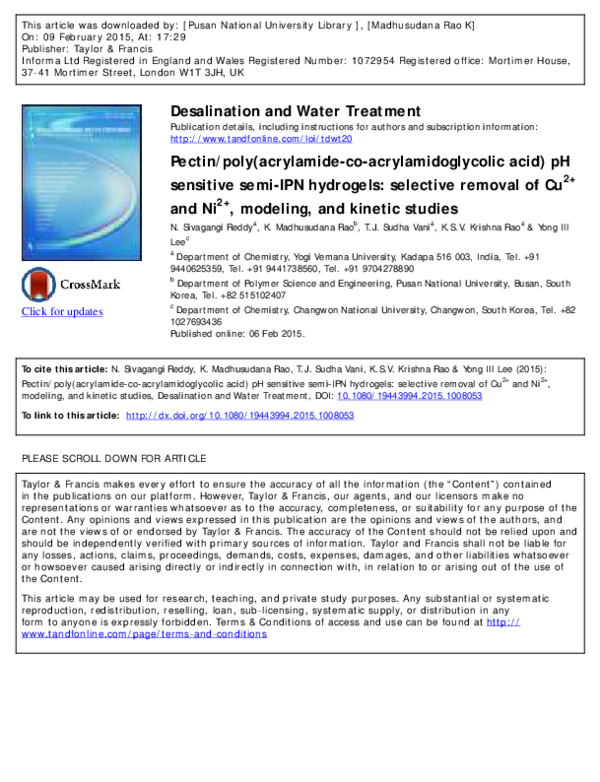 PDF) Pectin/poly(acrylamide- co -acrylamidoglycolic acid) pH