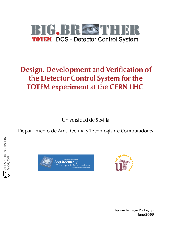 PDF) Design, Development and Verification of the Detector Control