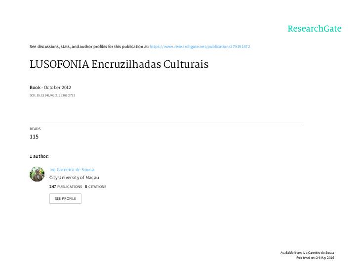 8b90fe4918afee PDF) LUSOFONIA: Encruzilhadas Culturais | Ivo Carneiro de Sousa ...