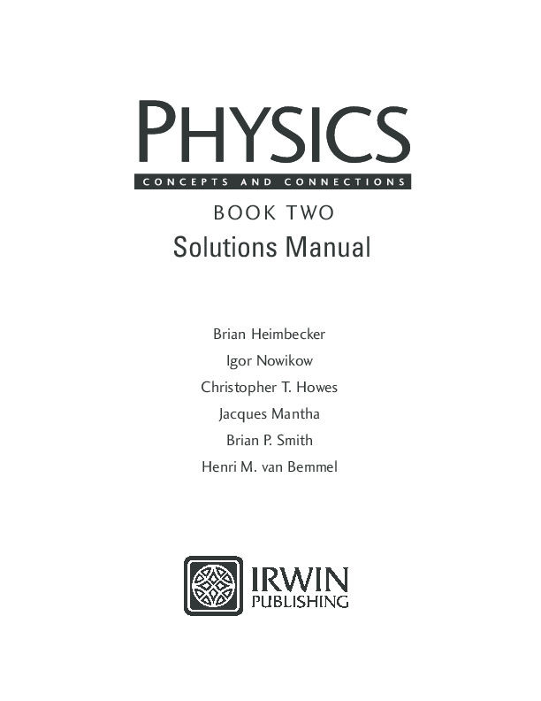 PDF) BOOK TWO Solutions Manual | Ly - Tin Tổ - Academia edu
