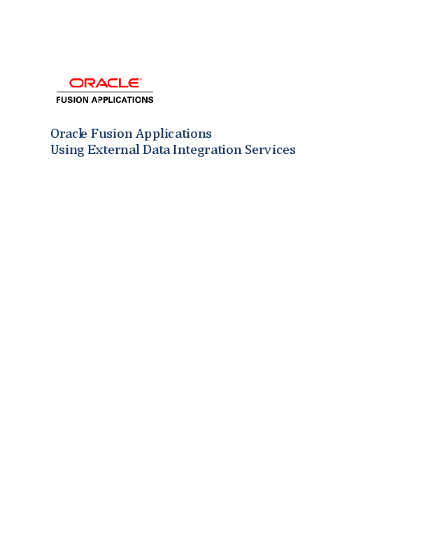 PDF) Oracle Fusion Applications Using External Data Integration