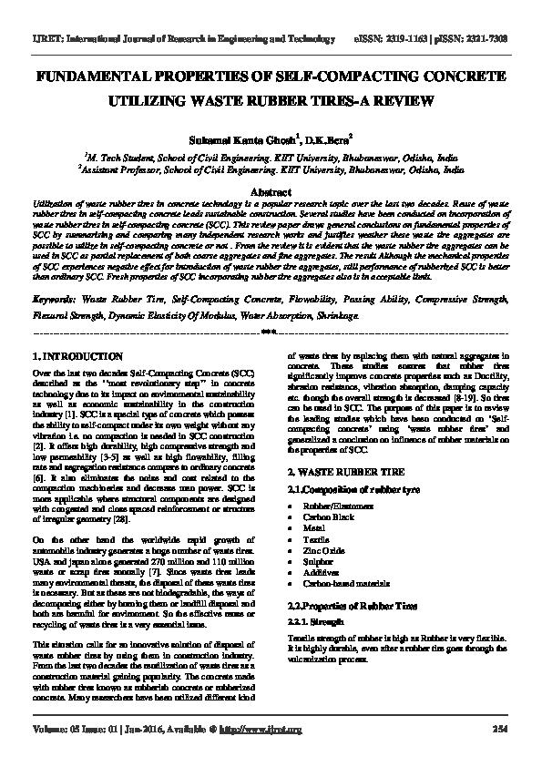 PDF) FUNDAMENTAL PROPERTIES OF SELF-COMPACTING CONCRETE
