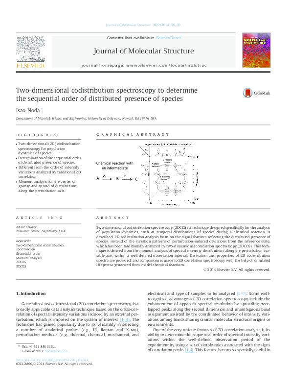 PDF) Two-dimensional codistribution spectroscopy to