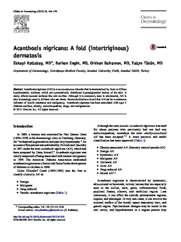 pseudo acantosis nigricans diabetes