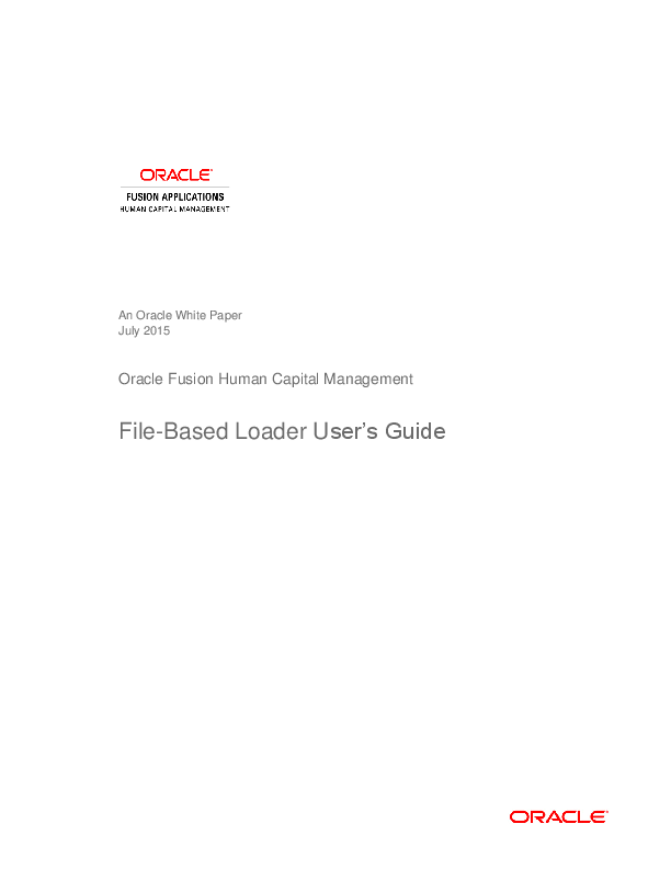 PDF) An Oracle White Paper Oracle Fusion Human Capital