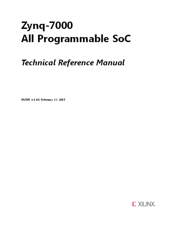 Zynq-7000 All Programmable SoC Technical Reference Manual | Jf Croz