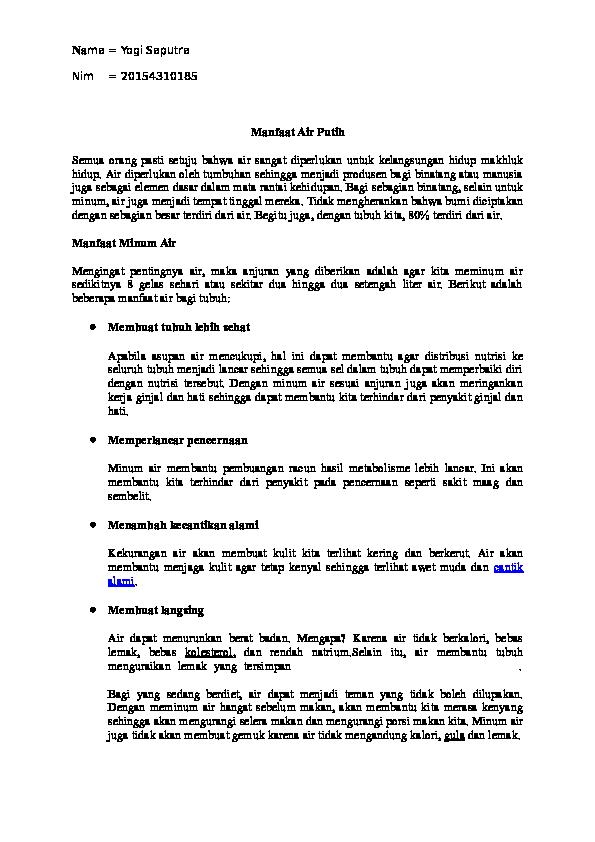 Doc Air Putih Yogi Saputra Academia Edu