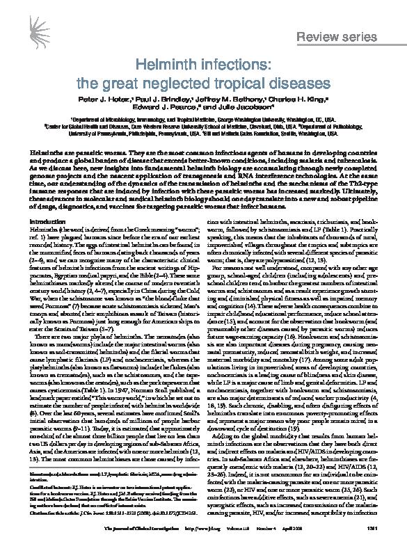 helminth tropical diseases
