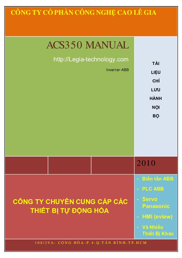 Pdf acs350 manual