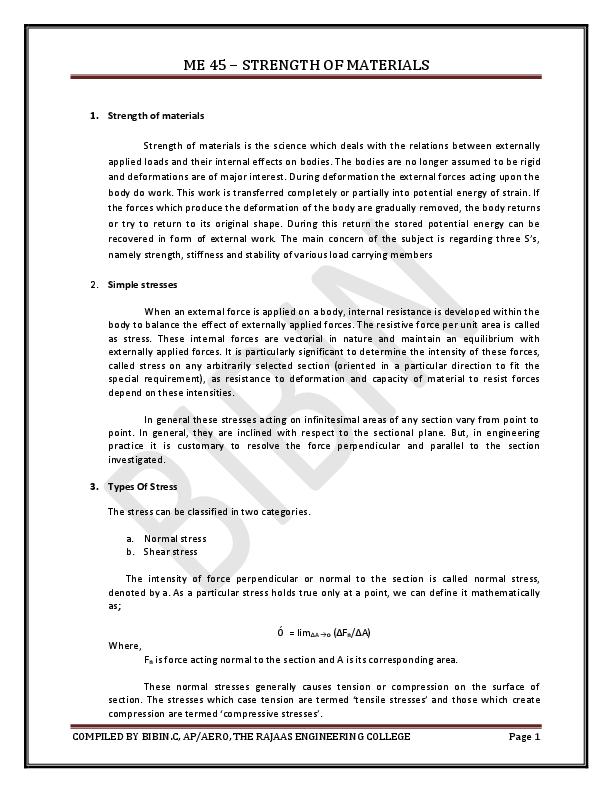 PDF) SHORT QUESTION AND ANSWERS | Bibin Chidambaranathan - Academia edu