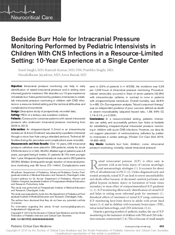 PDF) Pediatric Critical Care Medicine   Sunit Singhi