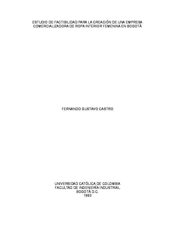 de98e89050 DOC) Estudio de factibilidad de creación empresa de ropa interior ...