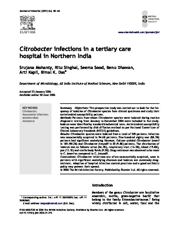 Citrobacter koseri prostate