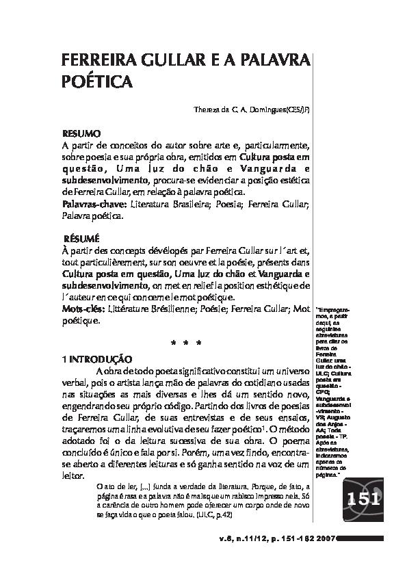 Poema Sujo Ferreira Gullar Pdf