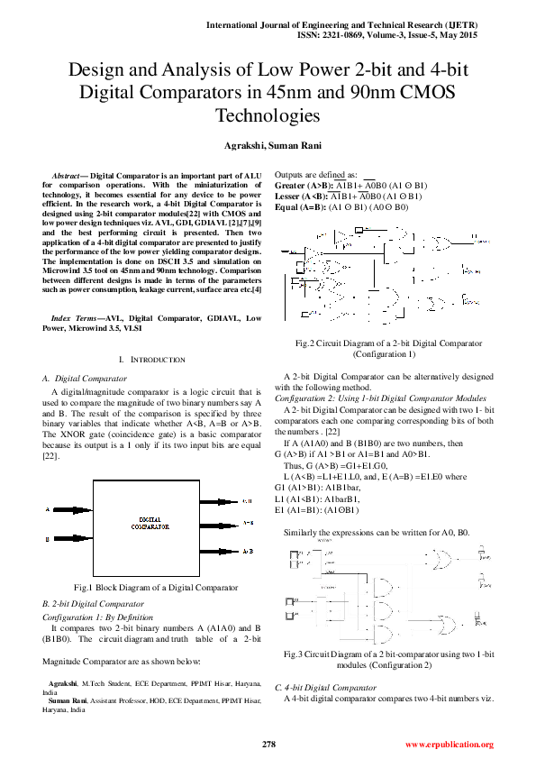 PDF) Design and Analysis of Low Power 2-bit and 4-bit
