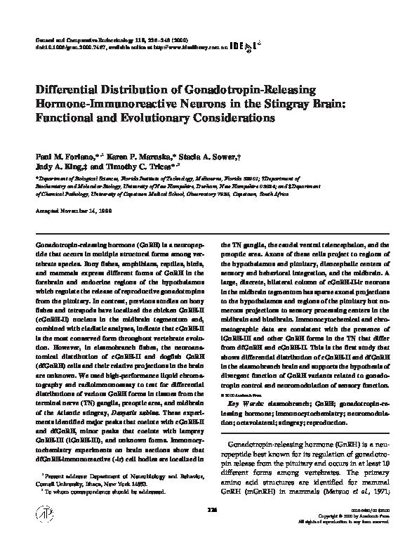 PDF) Differential Distribution of Gonadotropin-Releasing
