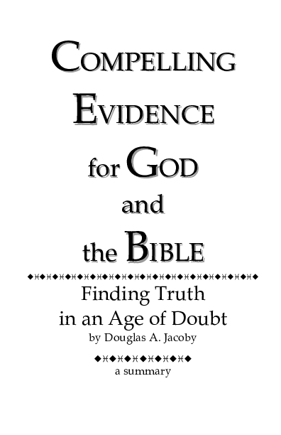 PDF) Compelling Evidence for God and the Bible | Daniel
