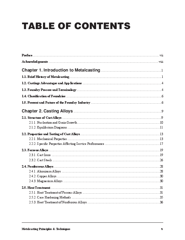 PDF) Metal Casting Principles and Techniques | Nageswara