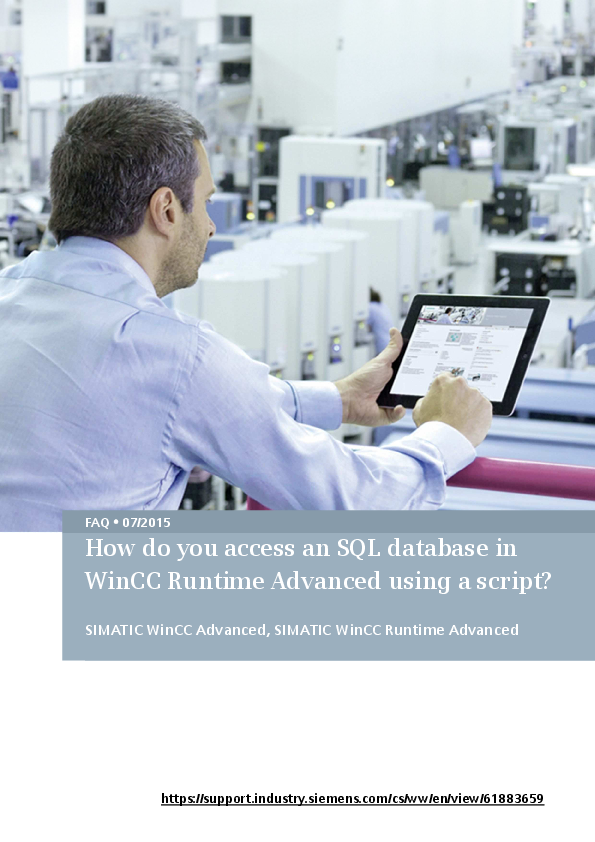 PDF) How do you access an SQL database in WinCC Runtime