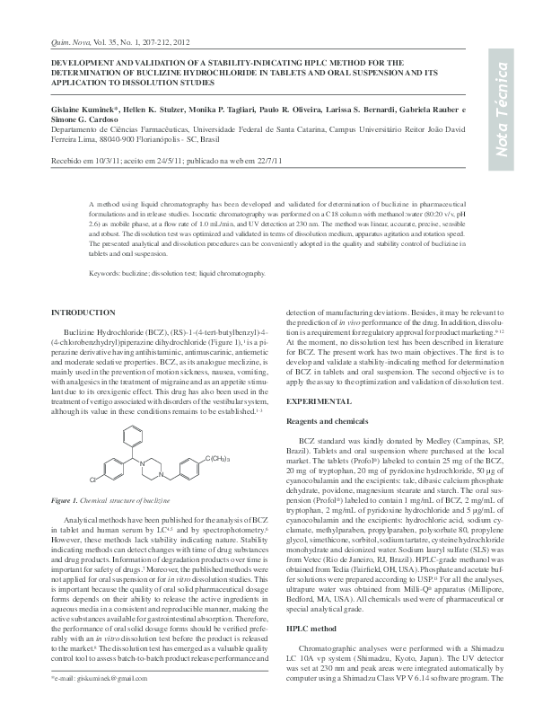 PDF) DEVELOPMENT AND VALIDATION OF A STABILITY-INDICATING HPLC