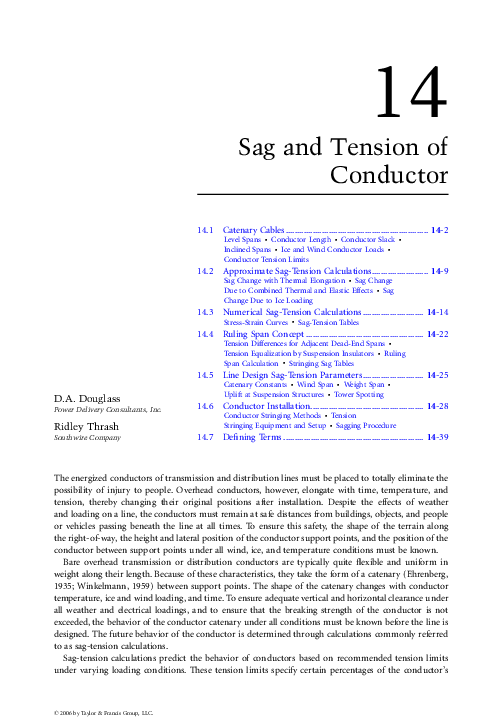 PDF) Sag and Tension of Conductor | Sead Saric - Academia edu