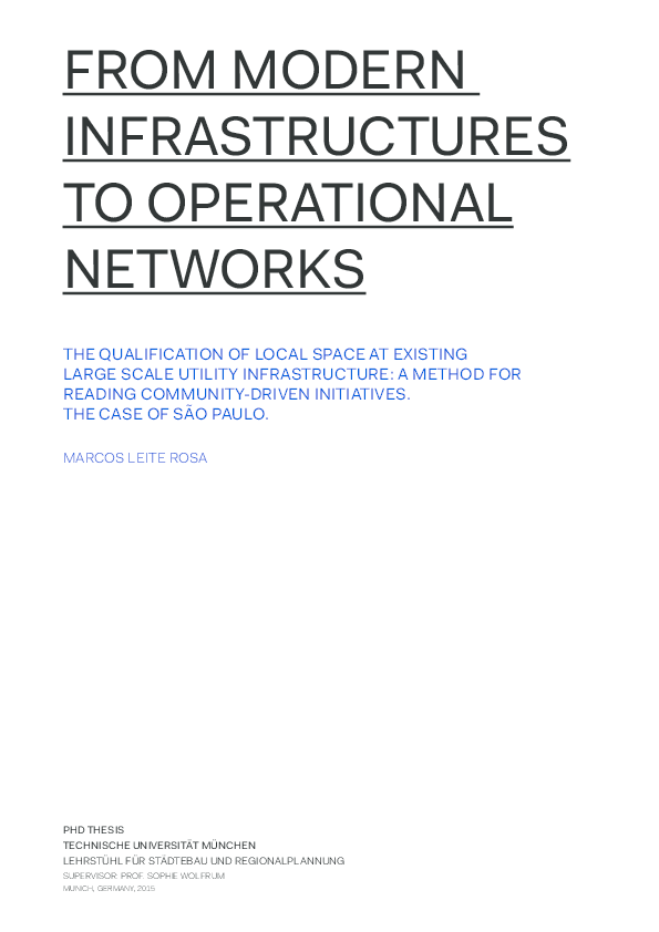 PDF) FROM MODERN INFRASTRUCTURES TO OPERATIONAL NETWORKS THE