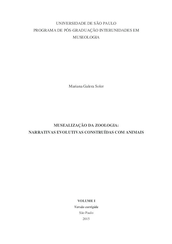 ae29c501c63e4 Musealização da zoologia  narrativas evolutivas construídas com ...