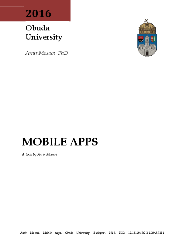 MOBILE APPS   Amir Mosavi - Academia edu