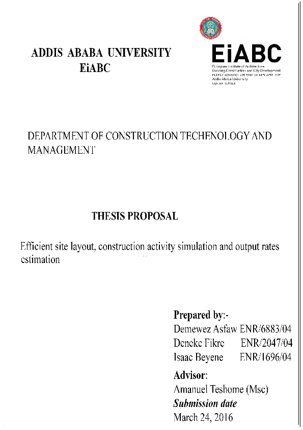 PDF) construction site layout planning with productivity   Isaac