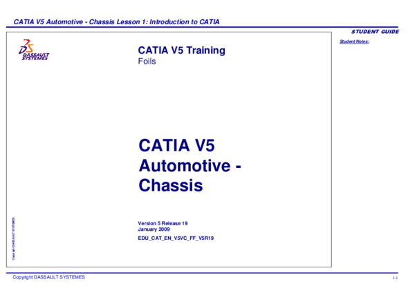 PDF) Automotive -Chassis, Introduction to CATIA V5 | Gonzalo