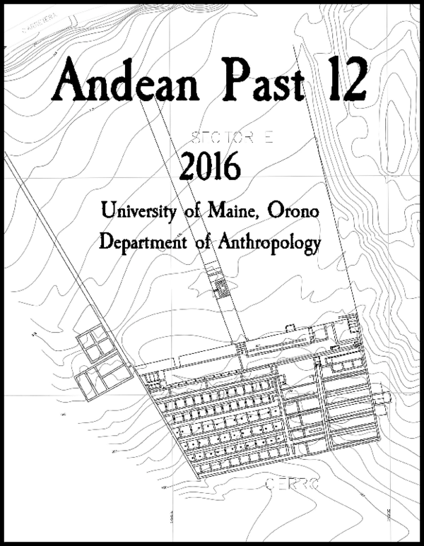 Pdf Andean Past 12 2016